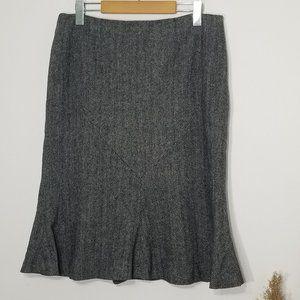 Blacky Dress | Herringbone Fit and Flare Skirt